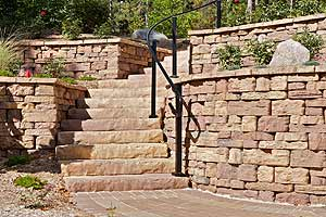 Photo of Retaining Wall & Steps